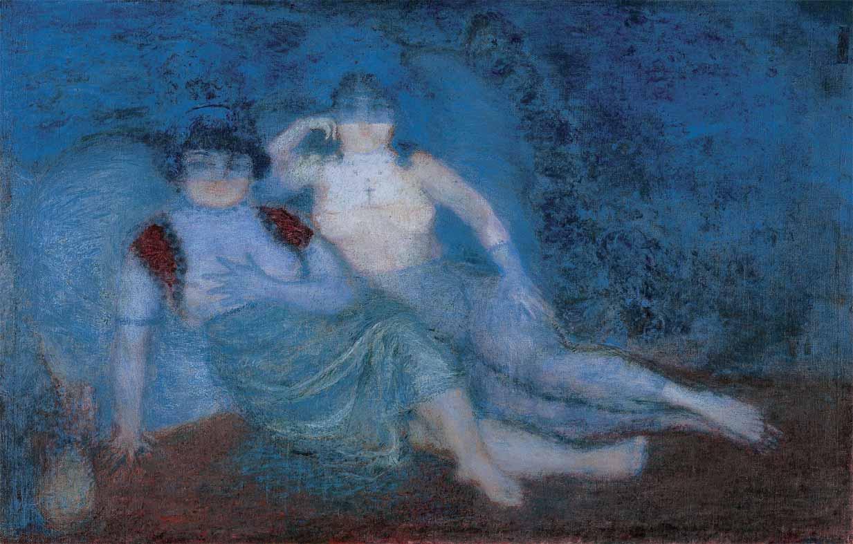 """Obra correspondiente al Período Azul del ilustre pintor y artista Venezolano: Armando Reverón """"La Luz de Venezuela"""""""