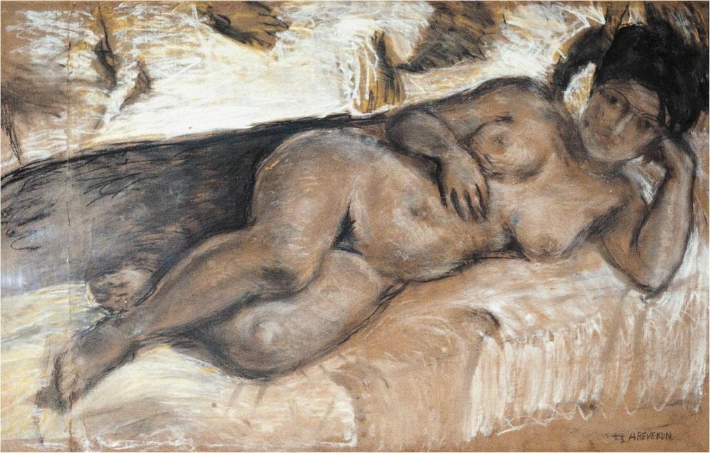 Desnudo acostado - Pintura de Armando Reverón - Artista y artesano de Venezuela