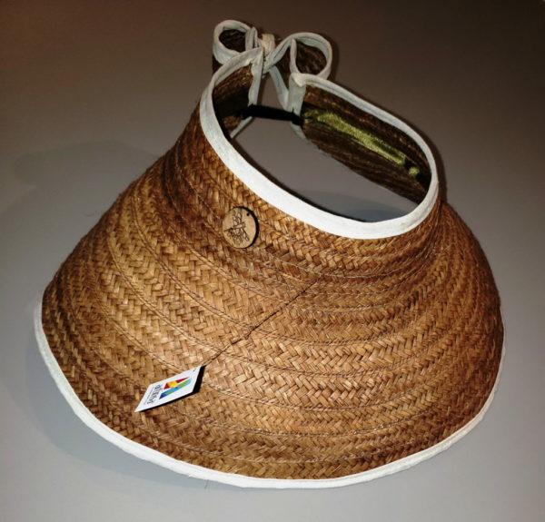 Pantalla artesanal venezolana - artículo de artesanía en forma de pantalla, sombrero o visera hecha en mapire por artesanos de Margarita, Venezuela