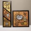Petroglifos, Artesanía en Piedra sobre madera pintados a mano, solos o en juegos de dos - Arte venezolano presente en el Mundo: Artinsa