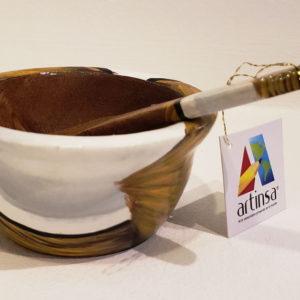 Salseras artesanales venezolanas, preciosa artesanía en tazones de madera pintados por artesanos de Margarita, Venezuela