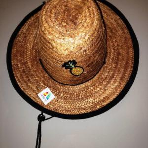 Sombrero artesanal venezolano, tipo Safari con diseño único de Piña o Ananás - Artesanía venezolana 100% hecha a mano en Mapire o Cogollo por Margariteños en Venezuela