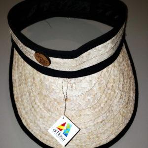 Visera artesanal venezolana con borde negro - Artesanía típica de la Isla de Margarita Venezuela, hecha por artesanos con Mapire o cogollo de calidad
