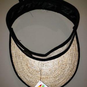 Artesanía venezolana - Sombrero tipo visera de color negro confeccionado en Mapire o cogollo por artesanos de Venezuela, producto con calidad para la exportación